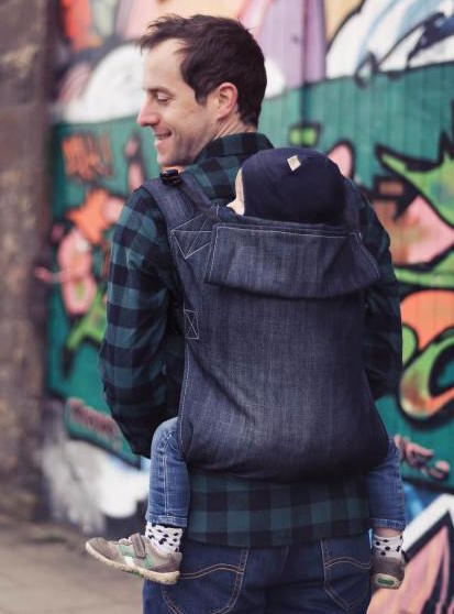 Connecta baby carrier in denim